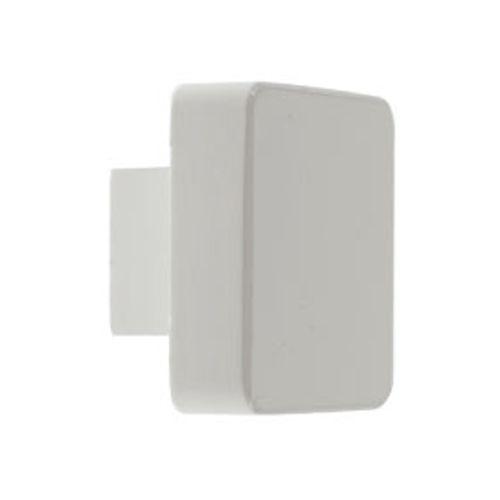 DecoMode knop klein vierkant wit 35x35mm 2st.