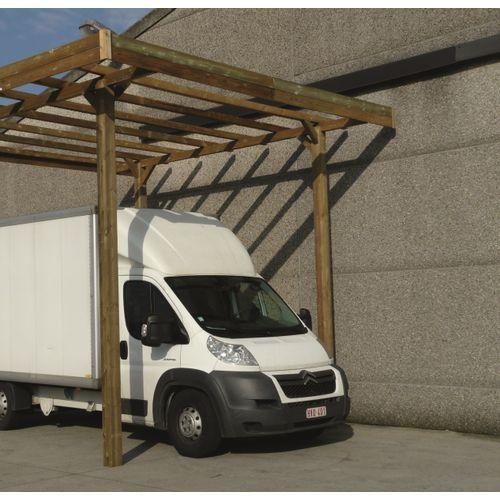 Solid carport S7762 20m²
