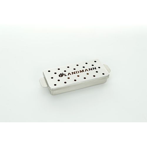 LandmannSelection rvs BBQ rookbox 700ml gas houtskoolbarbecue 12x275x45 cm