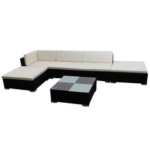 VidaXl loungeset 15 zwart