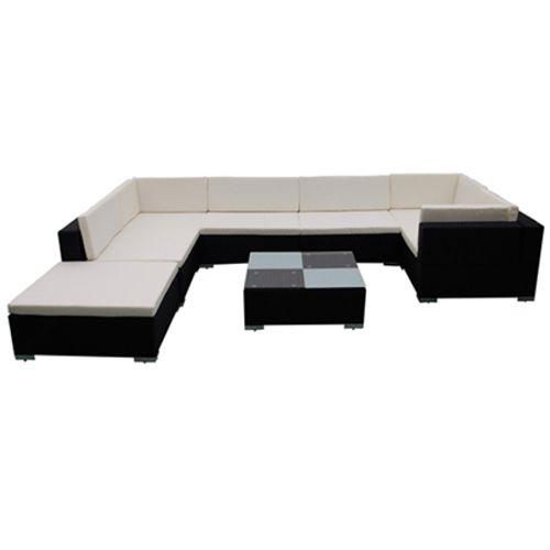 VidaXL loungeset 24 zwart
