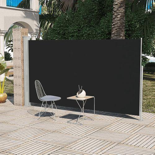 Uittrekbaar wind zonnescherm 160 x 300 cm zwart