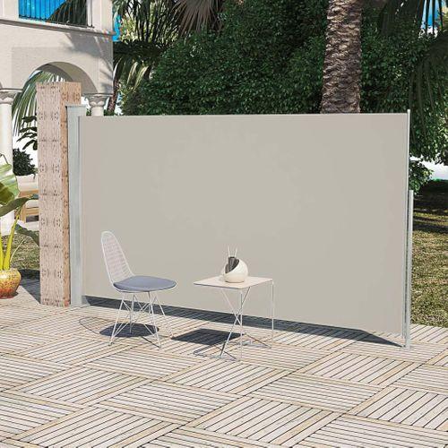 Uittrekbaar wind zonnescherm 160 x 300 cm crème