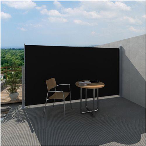 Uittrekbaar wind zonnescherm 180 x 300 cm zwart