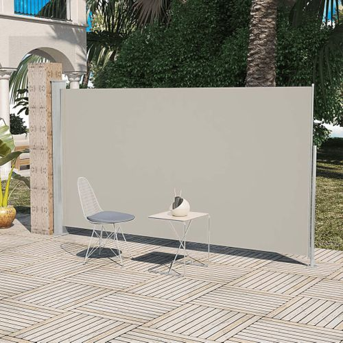 Uittrekbaar wind zonnescherm 180 x 300 cm crème