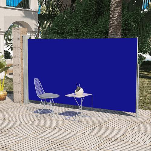 Uittrekbaar wind zonnescherm 160 x 300 cm blauw