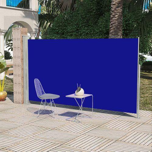 Uittrekbaar wind zonnescherm 180 x 300 cm blauw