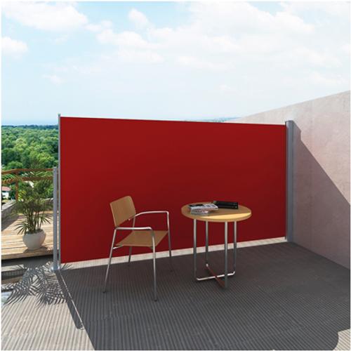 Uittrekbaar wind zonnescherm 180 x 300 cm rood