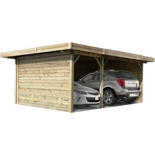 Solid carport S7757 35m²