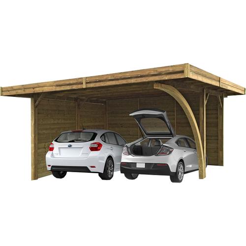 Solid carport S7758 30m²