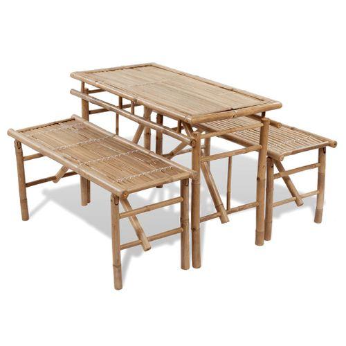 Picknicktafel bamboe inklapbaar