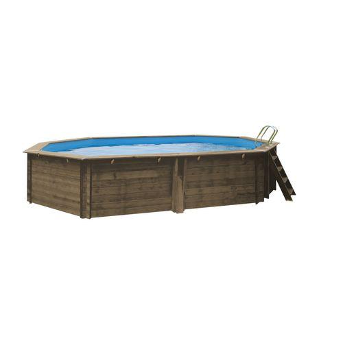 Gre opzetzwembad Normandie grenen ovaal 551x351x119cm