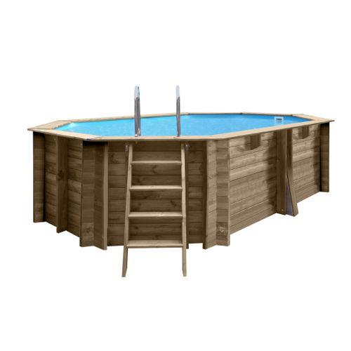 Gre opzetzwembad Normandie grenen ovaal 436x336x119cm