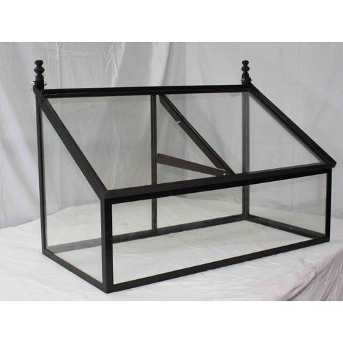 Les Potagers De Thomas mini serre glas zwart gietijzer 100x50x60cm