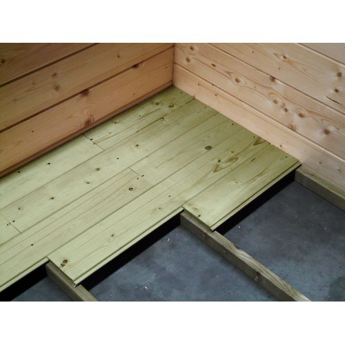 Solid tuinhuisvloer 'S8521 1' hout 5m²