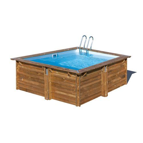 Gre opzetzwembad Loire grenen vierkant 300x300x119cm