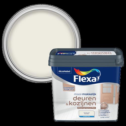 Flexa lak Mooi Makkelijk Deuren & Kozijzen zijdeglans gebroken wit 750ml verf lakken