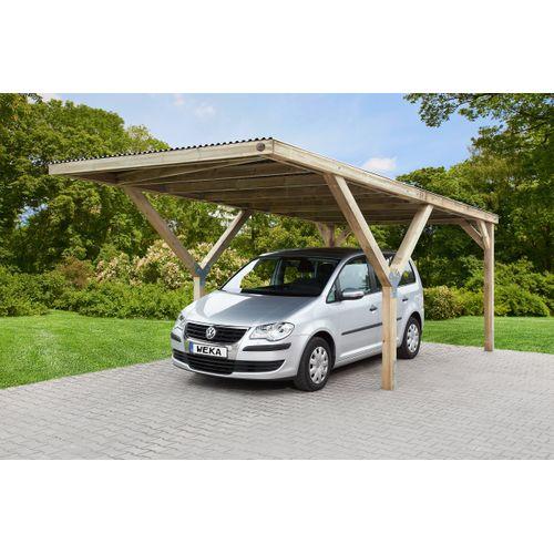 Weka carport enkel 612 met PVC dak 360x606cm