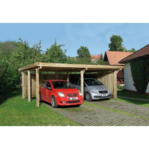 Weka carport 618 Gr.1 onbehandeld dak 512x576cm