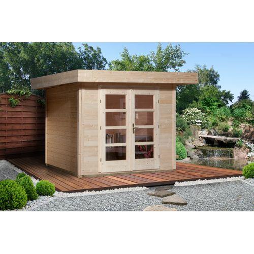 Weka tuinhuis met overkapping 126 GR2 240x295cm